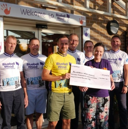 Scorched cyclists raise £17,000 for Bluebell Wood Children's Hospice