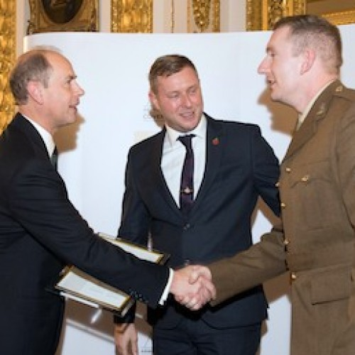 ITI presented with Gold Award by The Earl of Wessex and Secretary of State for Defence