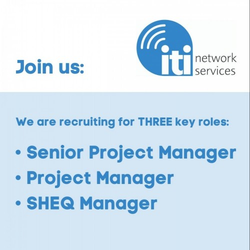 Job Alert – Senior Project Manager, Project Manager, SHEQ Manager